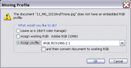 The HDR Image | Color management in Photoshop